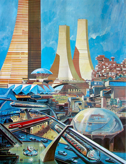 Klaus Bürgle: 100-storey residential towers, jet powered commuter trains, 1968