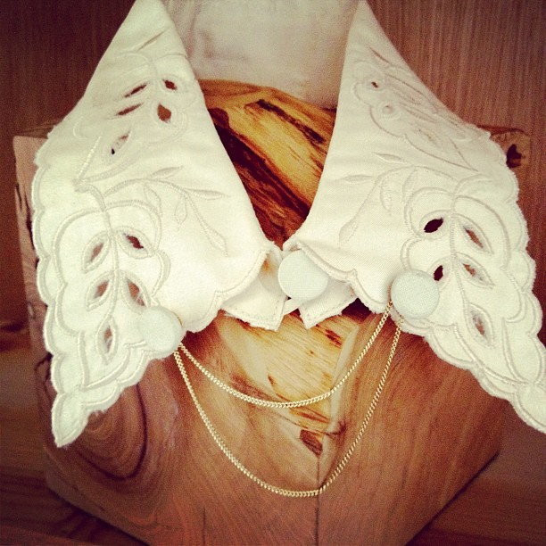 Vintage repurposed #swansandwolves collars. Check it WHAT!  (Taken with Instagram at Swansandwolves.etsy.com)