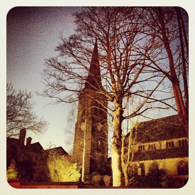 Floodlit Church #church #god #jesus #silhouette #dusk #night #lights #lights #floodlight #popular #photooftheday #instagood #instagram #instagreat #beautiful #urban #pretty #specialbranch #trees #landscape   (Taken with Instagram at Cleckheaton, West Yorkshire )