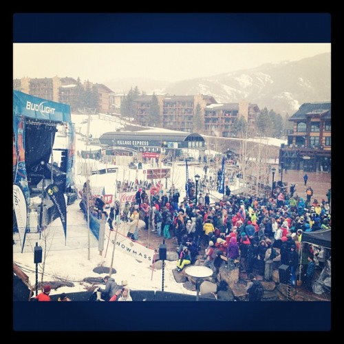 The snow is flying & The Wailers are jamming' (Taken with instagram)