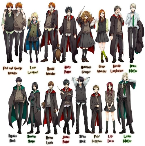 'harry potter anime'  via flicksandbits.com