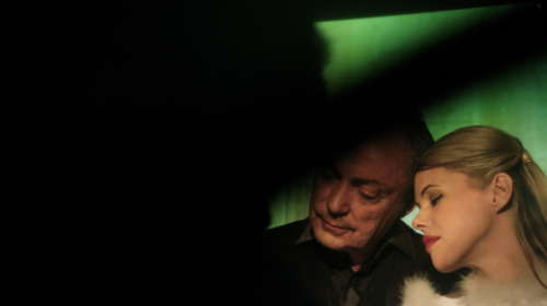 "From Guy Maddin's SPIRITISMES.  Udo Kier and Kim Morgan in ""Lost in the Dark."" Lost Nino Martoglio (Italy, 1914). Photo by Cecile Grâce Janvier."