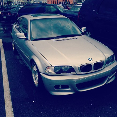 Finally got another car. At least til this summer, then I'm getting an M3.  (Taken with Instagram at Urban Outfitters)