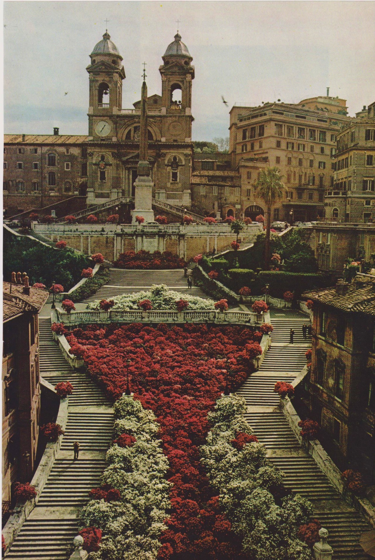 "Also known as the ""Spanish Steps,"" in the nineteenth century, artists gathered and could readily find models here."