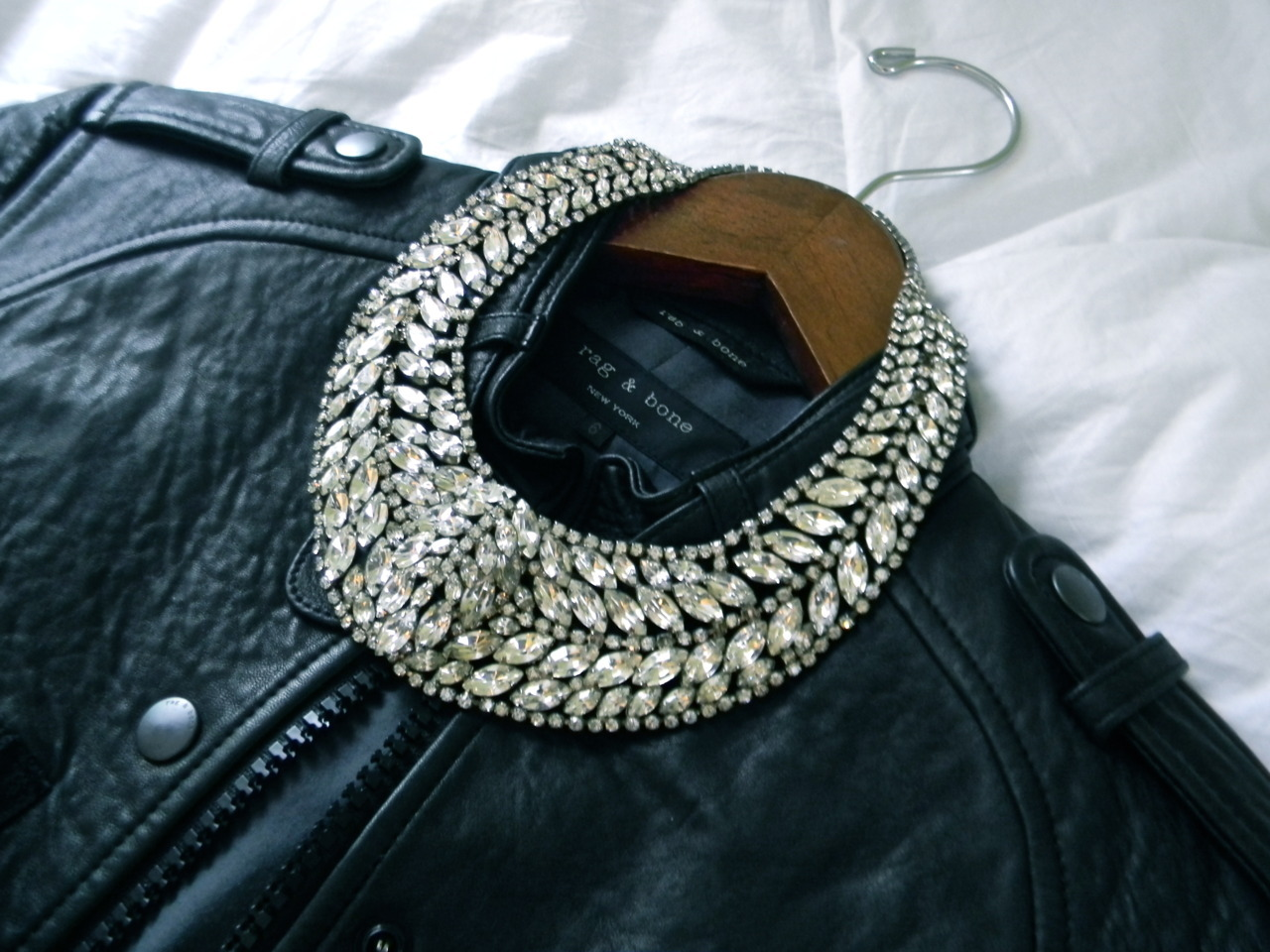 A highly embellished necklace that is highly versatile. You may pair this with a nice cocktail dress, or even a leather jacket, t-shirt, and jeans. #Fashion