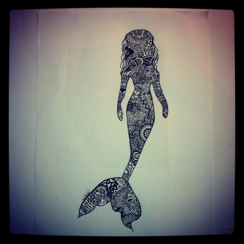 mermaid art on tumblr