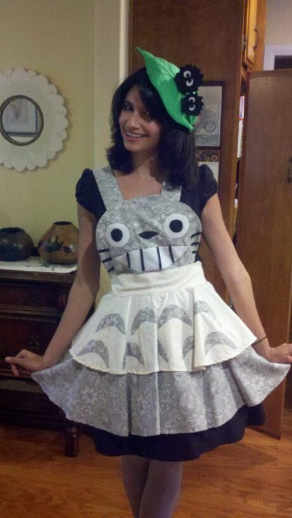 Darling Army, Totoro Cosplay Apron and Couture Hair Clip | 423 x 750 jpeg 50kB