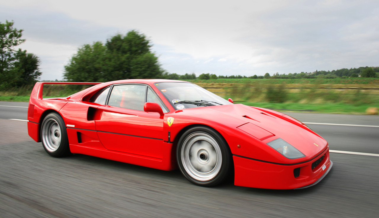 Ferrari F40. Hands down the greatest car ever built.