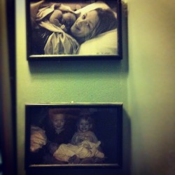 #marchphotoaday Day 18 | corner of your home :: photos of me & bean and Speed & Raru holding Bean (Taken with instagram)