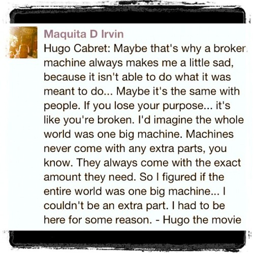 #Hugo #moviequotes 💗❤💗 (Taken with instagram)