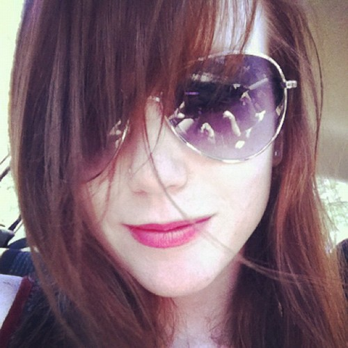 meghanszebrapigs:  #redhead #sunglasses #spring (Taken with instagram)