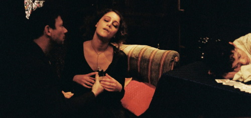 "From Guy Maddin's SPIRITISMES.  Mathieu Amalric, Ariane Labed and Geraldine Chaplin in ""The Dream Woman."" Lost Alice Guy-Blaché (USA/France, 1914).  Photo by Cecile Grâce Janvier."