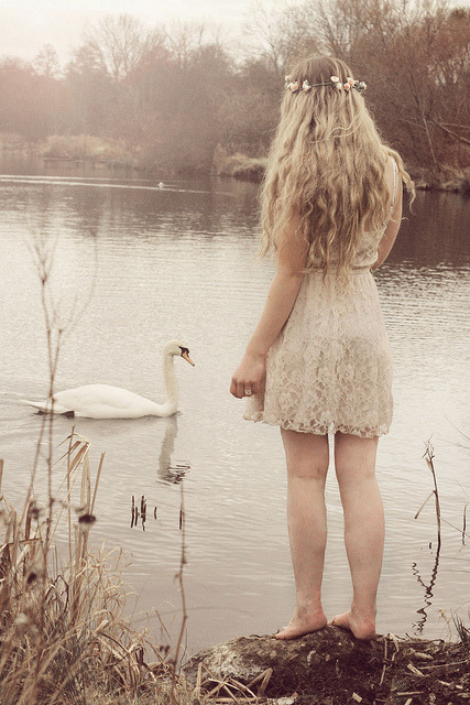nickwonderland:  The swan fairy by gingerlillytea on Flickr.