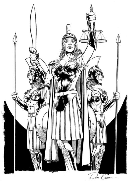 Queen Hippolyta and Amazon Guard by Don Kramer Magic Monday