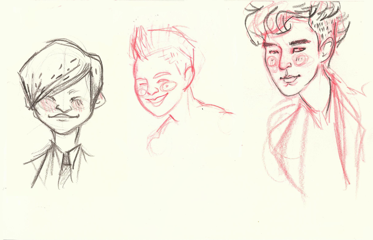 Daesung, Taeyang, TOP! Just some sketches. Obviously I still need to draw Seungri and G-Dragon.
