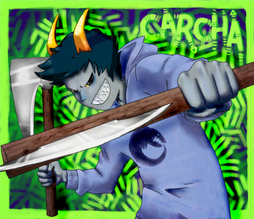i am so excited for the fantroll album James is making ahhhh so i drew carcha! gosh i hope i did him justice imaybedumbbutimnotstupid.jpeg yep