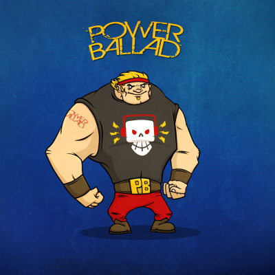 "drawblairdraw:  DAY ONE: BIG BRUISER POWER BALLAD Here is my first entry. I imagined this character as the ultimate rock fan. Sadly, he started out as a wee little guy. He discovered through the power of awesome vocals and guitar riffs he was able to pump himself up until he ""Hulked out"". He now uses his new found power to fight the righteous battle for good while spreading the gospel of power ballads. ROCK ON!"