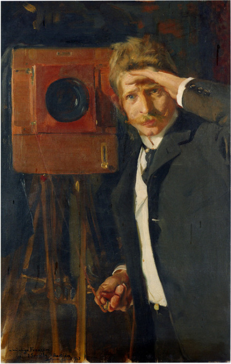 Portrait of photographer, Christian Franzen, Joaquin Sorolla y Bastida, 1901