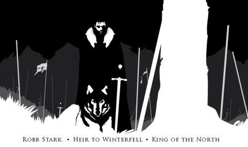 theyarethetrees:  Robb Stark and Greywind by ~the0redpill