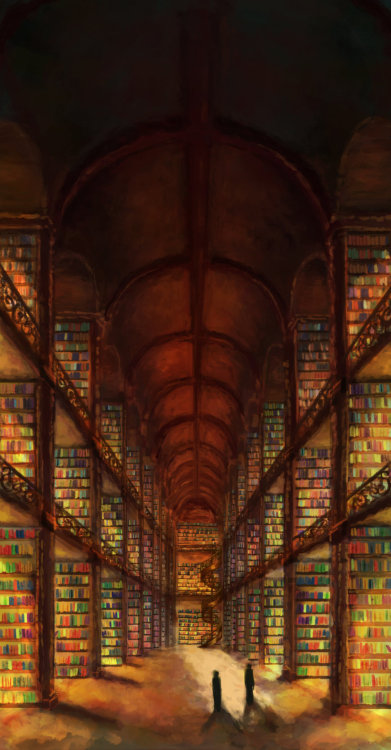 teachingliteracy:  Library Between Worlds by *BlazewingDragon