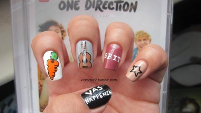 One Direction Nails: Take 2 This time each guy got a nail! You can see my first One Direction nails here