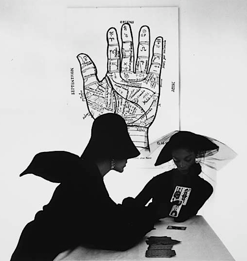lauramcphee:  The Tarot Reader (Bridget Tichenor and Jean Patchett), New York, 1949 (Irving Penn)