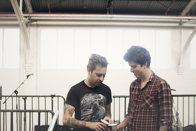 melbourne, australia - justin and eric backstage / a rocket to the moon.