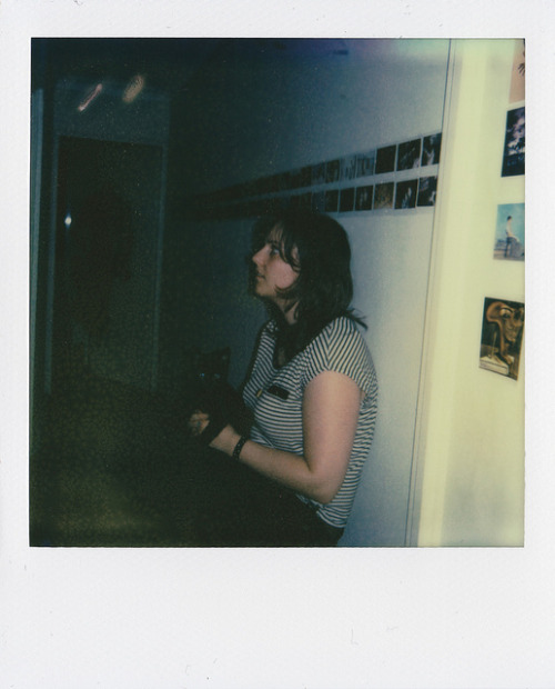 Liz and Louis on Flickr.Via Flickr: PX 680 Colour Shade/First Flush. The Impossible Project Polaroid film. March 2012.