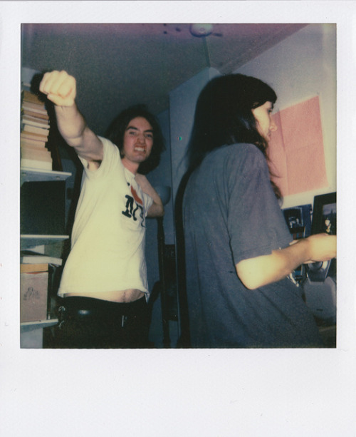 Joel & Jess. on Flickr.Via Flickr: Joel's epic dancing. PX 680 Colour Shade/First Flush. The Impossible Project Polaroid film. March 2012.