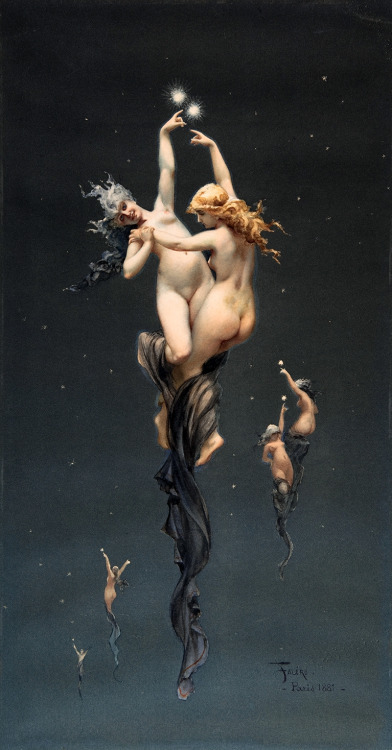 art-yearly:  Luis Ricardo Falero The Twin Stars 1881