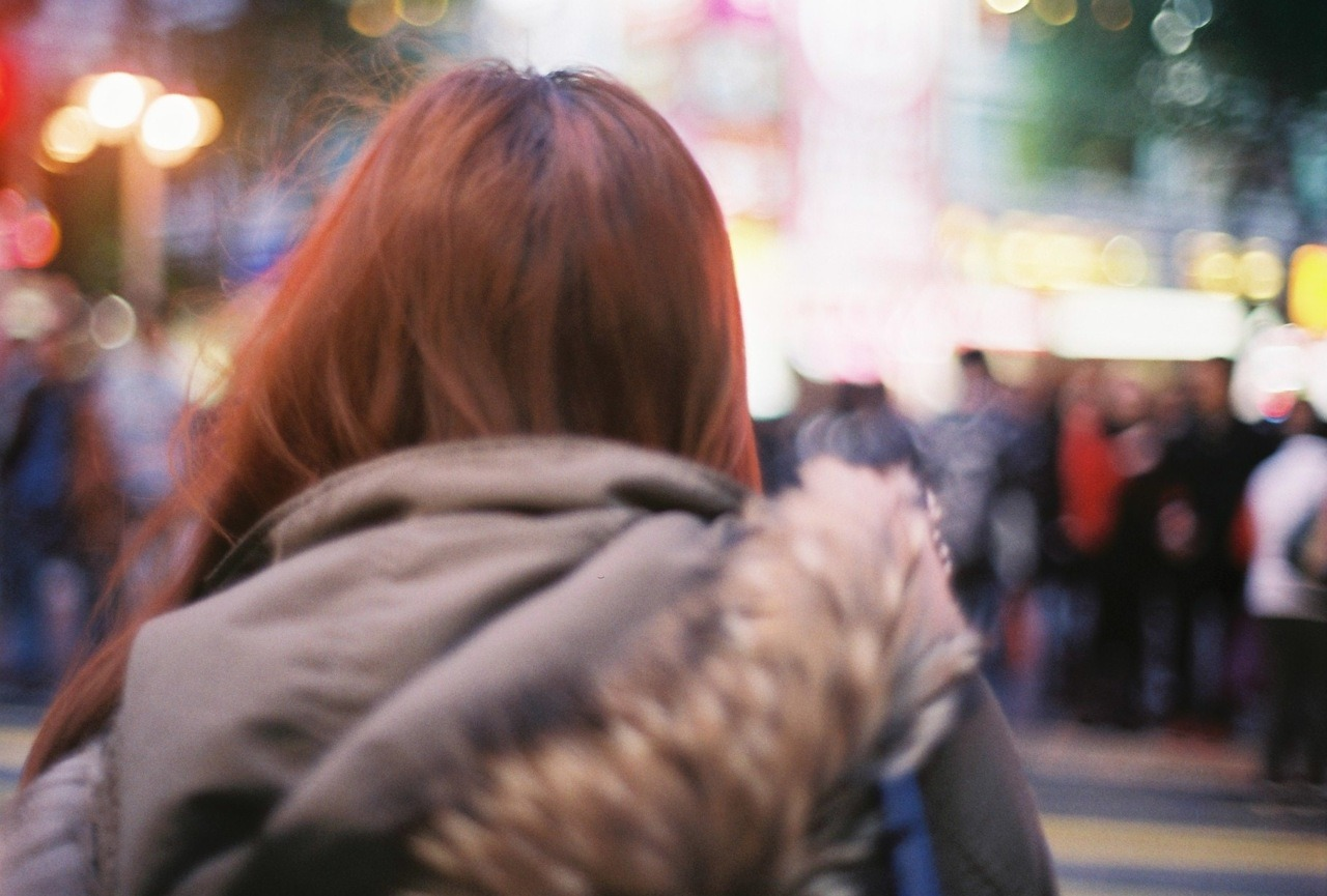 #75 Girl with the bright red hair. Film: Fuji Superia X-tra 400
