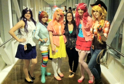 Me with a My Little Pony cosplay group at Momocon 2012!