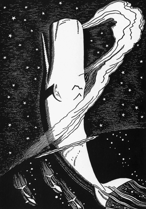 sadburro:  Illustration for Moby Dick (1930) Rockwell Kent