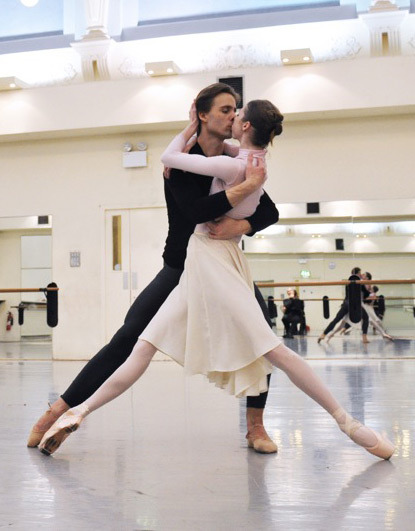 Bridgett Zehr and Zdenek Konvalina in rehearsal for Impromptu