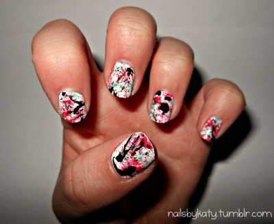 My Pollock inspired nails!