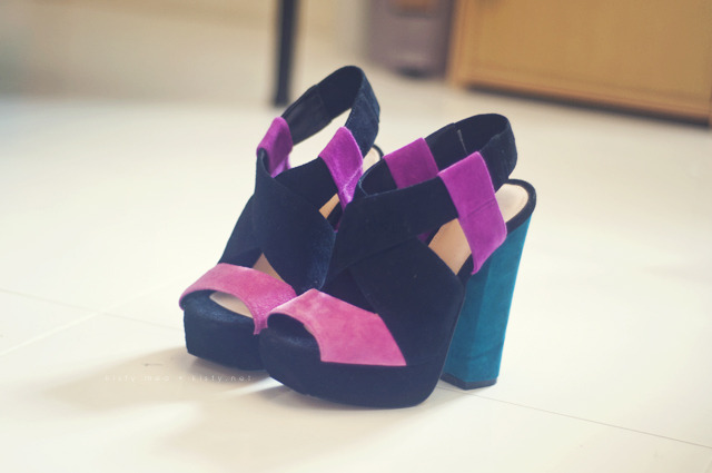 The Style Mermaid by Kisty Mea • Topshop's LOVE Colour Block Suede Sandals