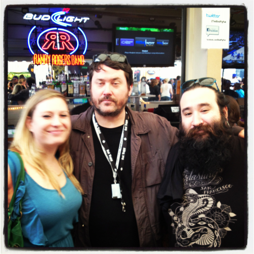 Me, my friend jackie and the very stoned Doug benson last day of sxsw