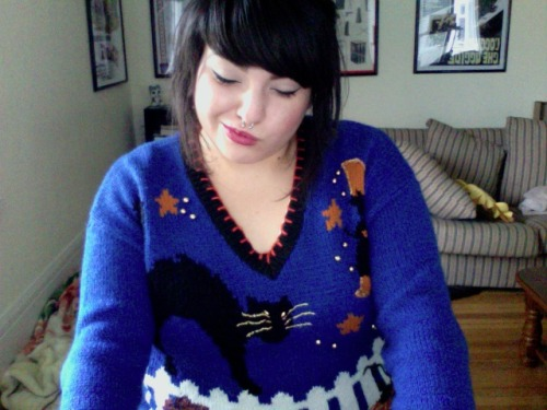 It's the middle of March and I'm wearing a Halloween sweater. Why? Because I'm a fucking adult that's why!