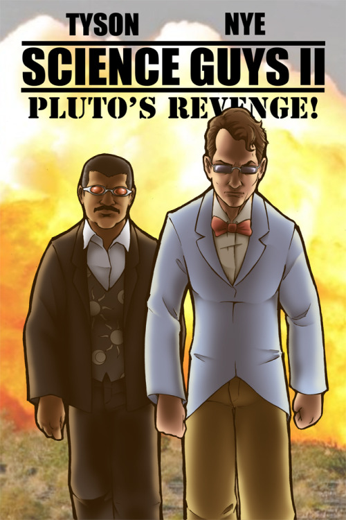 travisthegeek:  Science Guys II by ~TravisTheGeek I was a little busy with work this week, plus I was feeling a little burned out after laying it all out for last week's drawing, so it's kind of a simple one this week. Still, it provided a few unexpected challenges. I'm still working on hitting likenesses when I'm drawing real people and still staying true to the style I'm going for. Plus back-lighting is quite difficult. I'm still trying to improve my grasp on normal lighting, so something this dramatic was quite the challenge.