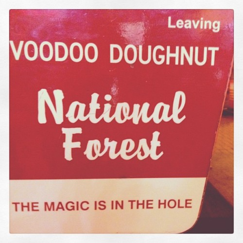 The magic is in the hole. #voodoo #donuts #eugene #mzgic (Taken with Instagram at Voodoo Doughnut)