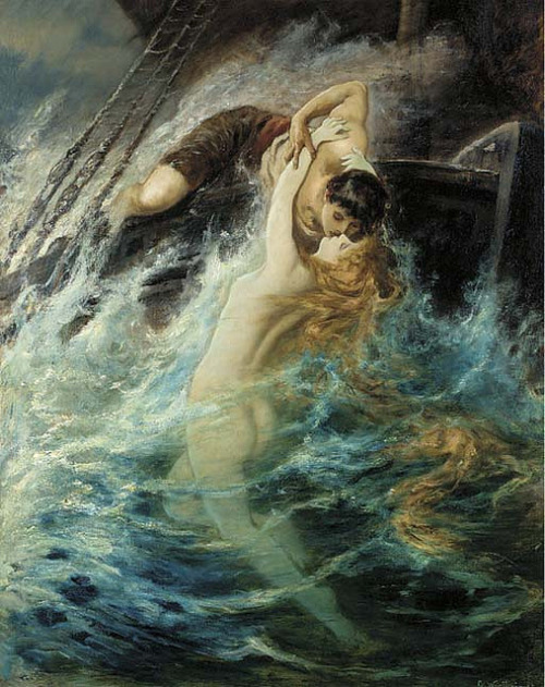 "Gustav Wertheimer (Austrian, 1847-1904), ""The kiss of the siren"" by sofi01 on Flickr."
