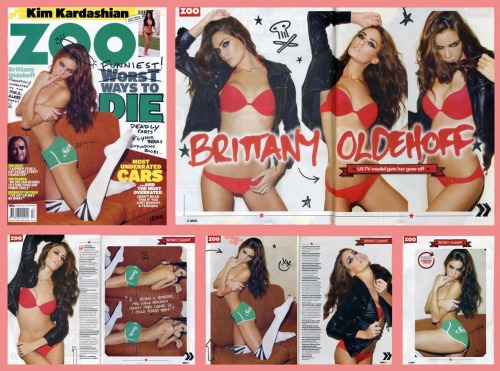 Sexy, sweet and sassy Brittany Oldehoff as the cover/feature/interview in the current issue of Zoo Weekly magazine, Australia. Images from our shoot 'Brittany Oldehoff :: bringing sexy back'.