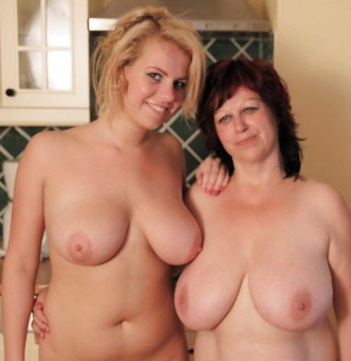 thickwives4bbc:  motheranddaughterbeauty:  mom-daughter pose nude 3  Bet they have shared bbc!