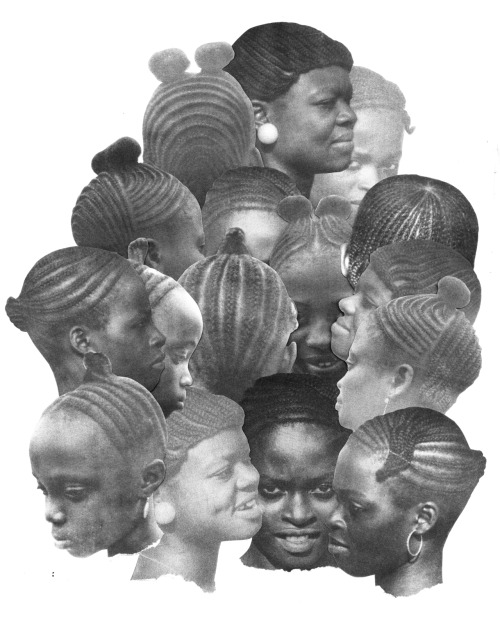 decolonizeyourmind:  anarchiveofhair:  A collage of images scanned from African Hairstyles, by Akua-Adiki Anokye, distributed by Oceanic Primitive Arts, 1980