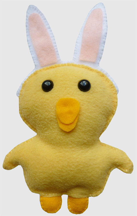 Adorable Easter Chick w/detachable Bunny Ears just in time for the holiday! http://etsy.me/wRIjZS