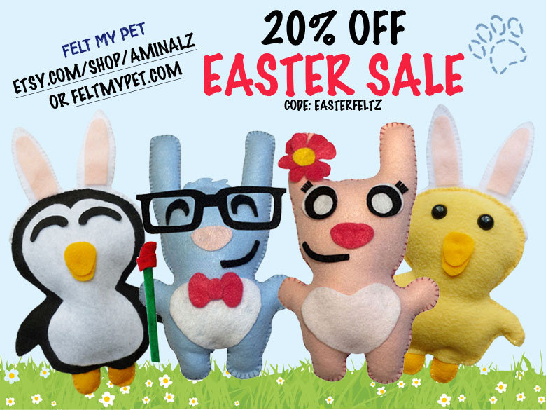 20% OFF FELTIE EASTER SALE W/NEW ITEMS!! http://etsy.me/sUXdxQ