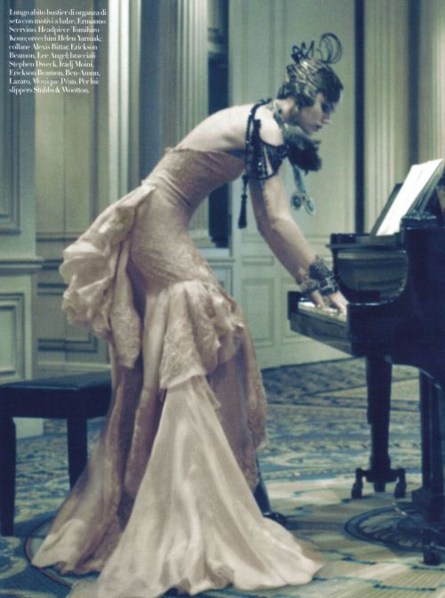 lacewings:  Freja Beha Erichsen for Vogue Italia March 2010 ph: Steven Meisel