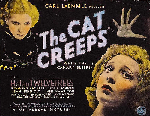 rcmerchant:  poster the lost the CAT CREEPS (1930)