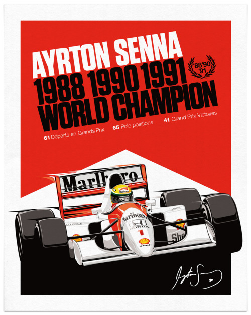 rawbdz:  Ayrton Senna - Vector Illustration.