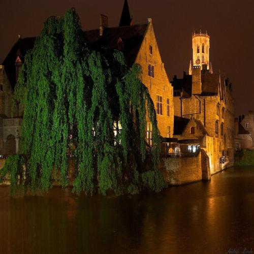 (via Rainy night in Bruges by Andrei Linde - pixdaus)